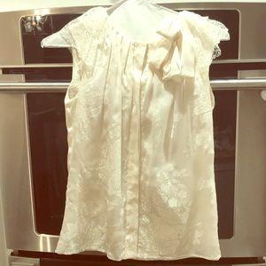 Authentic Valentino cream Silk Top size 4 size 40